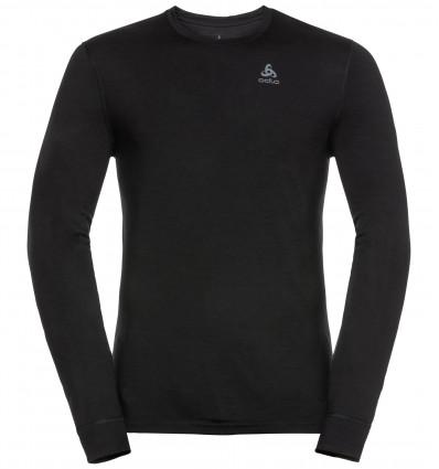 T-shirt technique à manches longues ODLO NATURAL 100 % MERINO WARM (Noir) Homme