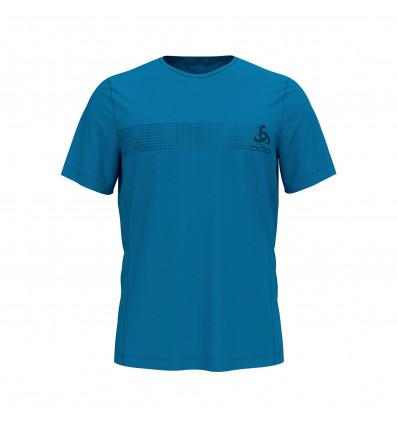 T-shirt Bl Top Crew Neck S/s Core Light Print Odlo (blue Jewel - Placed Print Fw18)