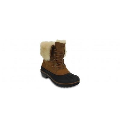 Bottes après-ski Crocs Women Allcast II Luxe Shearling Boot (Wheat) femme