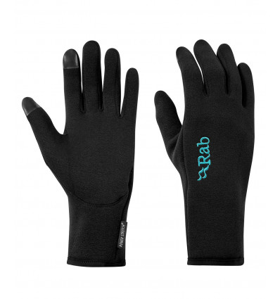 Gants Rab Power Stretch Contact Glove Wmns (Black) femme