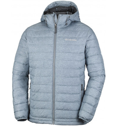 Doudoune Columbia Powder Lite Hooded Jacket (Grey ash print)