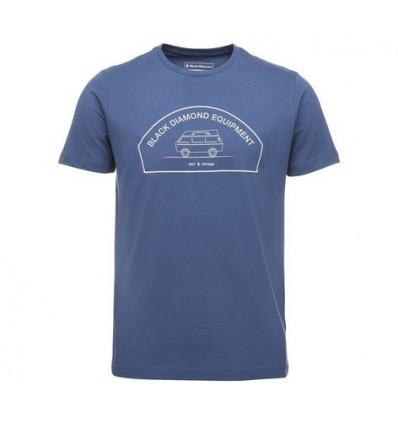 T-shirt M Ss Rock Van Tee Black Diamond (Ink Blue)