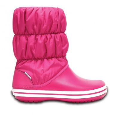 Crocs Kids' Winter Puff Boot (Candy Pink)