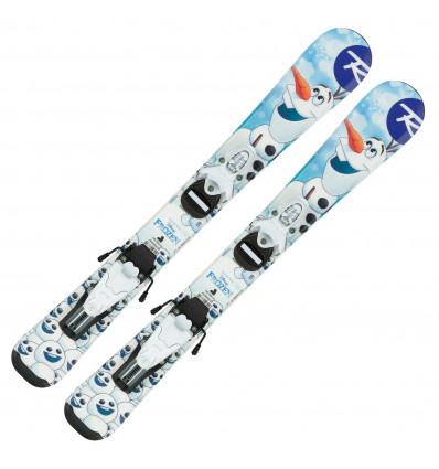 Pack ski+fixation Rossignol Frozen Baby (pre Drilled) ski + TEAM 4 B76 WHITE (enfant)