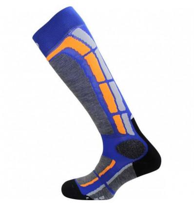 Chaussettes ski alpin - MONNET BACK SIDE (Bleu)