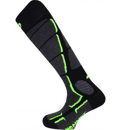 Chaussettes ski Monnet Wooly Silk (Noir vert )