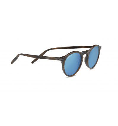Lunettes de Soleil Serengeti Raffaele (Shiny Wood Grain Polarized 555nm® Blue) femme