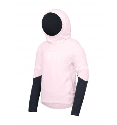 Sweat Feather Tech Hoodie Picture (C Pale Rose) femme