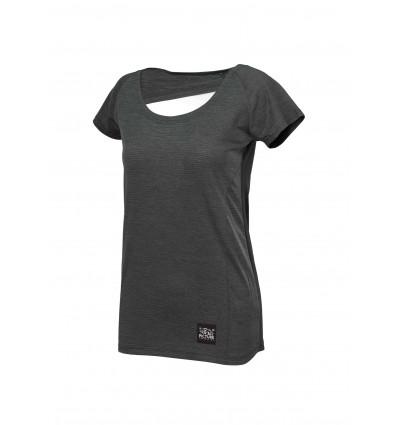 T-shirt manches courtes Milli Tech SS Tee Picture (B Black) femme