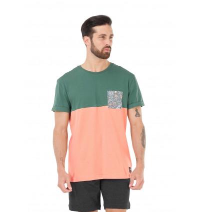 T-shirt manches courtes Evans Pocket Tee Picture (A kaki peach)