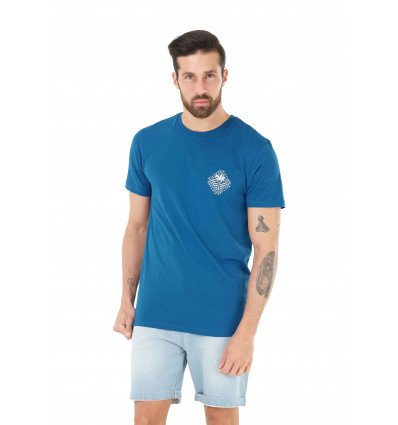 T-shirt manches courtes Resort Tee Picture (B Blue)
