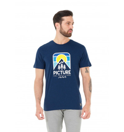 T-shirt manches courtes Elko Tee Picture (C Dark Blue)
