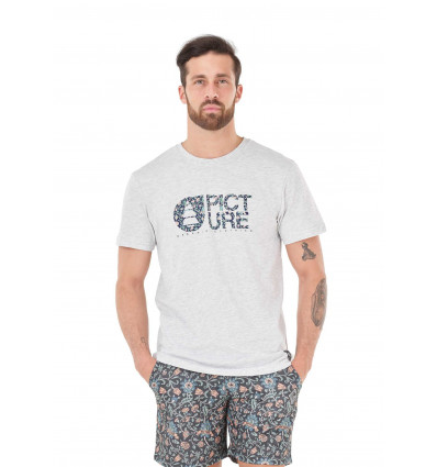 T-shirt manches courtes Basement Mucha Tee Picture (A Light Grey)