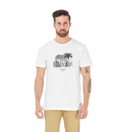 T-shirt manches courtes Surf club Tee Picture (A White)