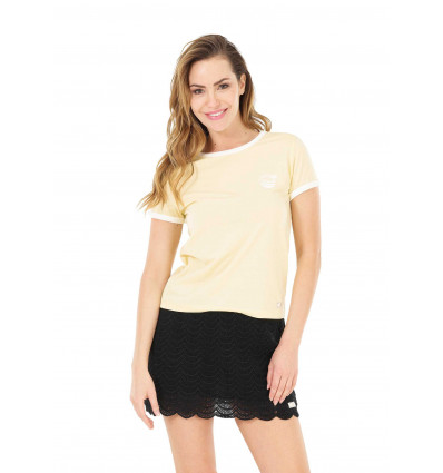 T-shirt manches courtes Heritage Tee Picture (B Yellow) femme