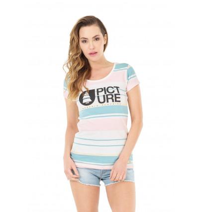 T-shirt manches courtes Basement Blush Picture (A Pale stripes) femme