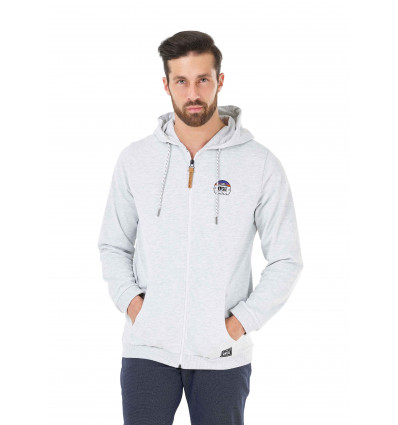 Sweat Dawn Zip Hoodie Picture (A Light Grey)