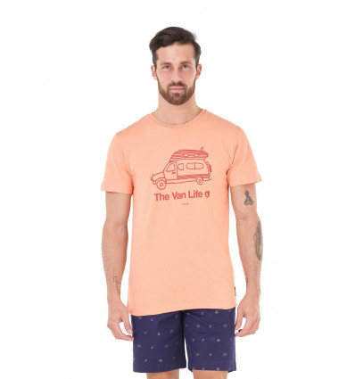 T-shirt manches courtes Van Life Picture (B Peach)
