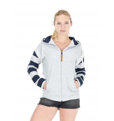 Sweat Basement Zip Hoodie Picture (B Light Grey) femme