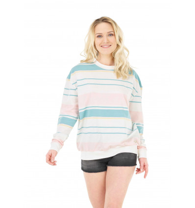Sweat Heavenly Light crew Picture (A Pale stripes) femme