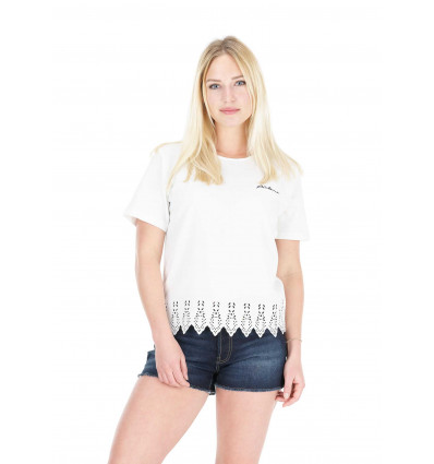 T-shirt manches courtes Yva Picture (B White) femme