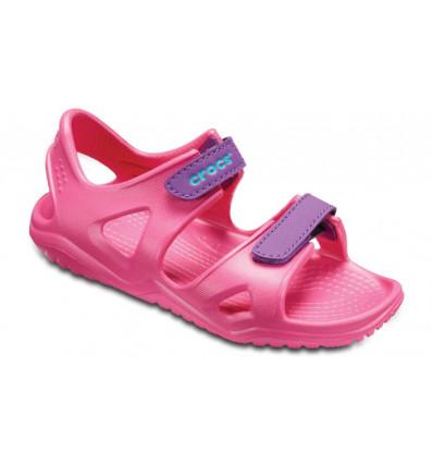 Sandales Crocs Swiftwater River Sandal (Paradise pink, amethyst) enfant