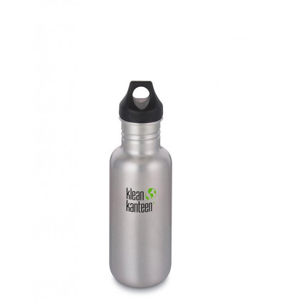 Bouteille Classic 18oz - Loop Cap Klean Kanteen® (brushed stainless)
