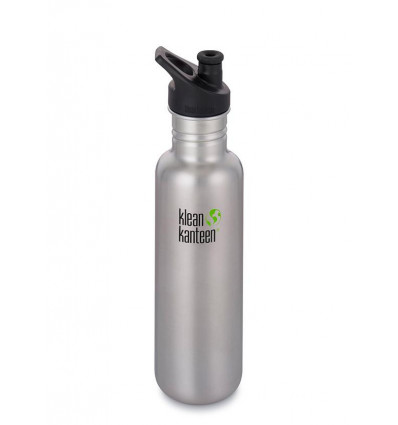 Bouteille 27 oz Classic sport Cap 800 ml Klean Kanteen® (brushed stainless)