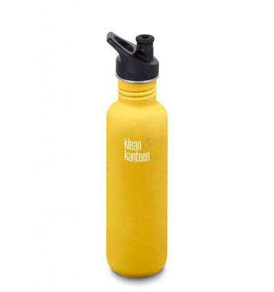 Bouteille 27 oz Classic sport Cap 800 ml Klean Kanteen® (lemon curry)