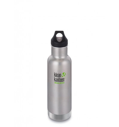 Bouteille 20 oz Classic Insulated Loop Cap 592 ml Klean Kanteen® (brushed stainless)