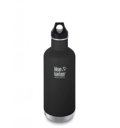Bouteille 32 oz Classic Insulated Loop Cap 946 ml Klean Kanteen® (shale black)