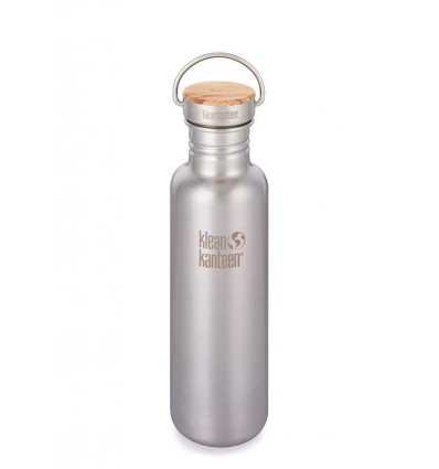 Bouteille 27 oz Reflect Bamboo Cap 800 ml Klean Kanteen® (brushed stainless)