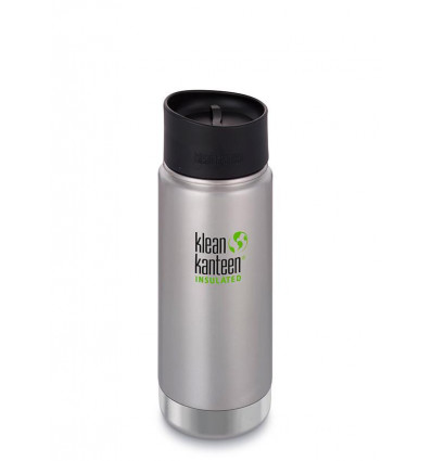 Tasse 16 oz Wide Insulated Café Cap 473ml Klean Kanteen® (brushed stainless)