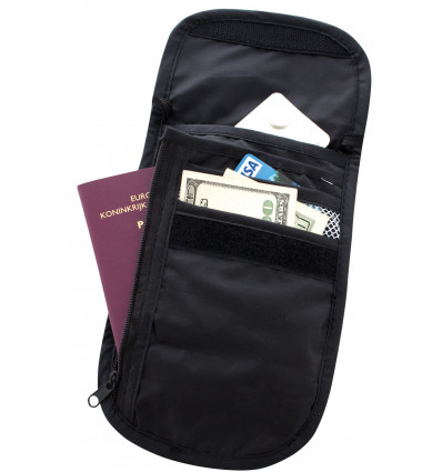Poche tour de cou Check Out TravelSafe (Black)