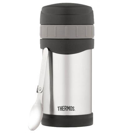 Porte-aliments avec cuillère repliable 0.5L Thermos (inox)