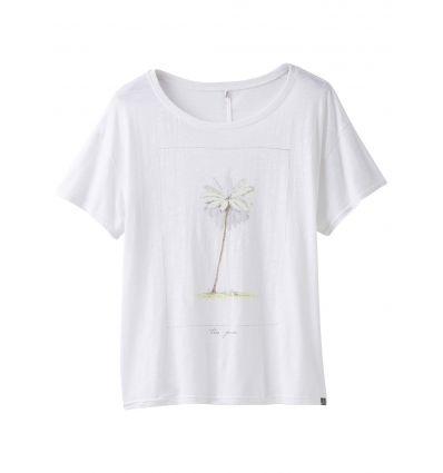 T-shirt Chez Top prAna (White Tree Pose) femme