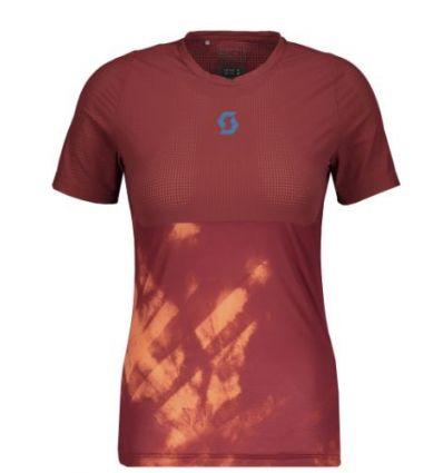 T-shirt à manches courtes SCOTT Kinabalu Run (merlot red/camellia ) femme
