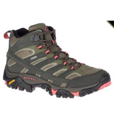Chaussures de randonnée Merrell Moab 2 Mid Goretex (beluga/olive) femme