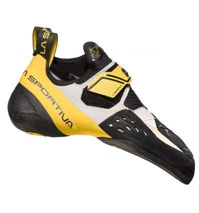 Chausson d'escalade La Sportiva Solution (White/yellow)