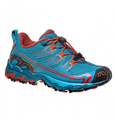 Chaussure trail Falkon Low 27-35 La Sportiva (Tropique blue/tangerine) enfant