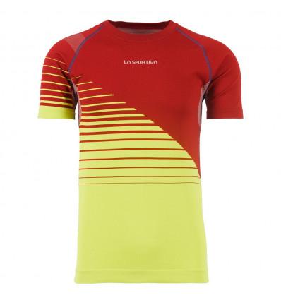 T-shirt trail Complex La Sportiva (Chili/Apple Green)