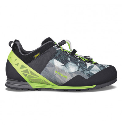 Chaussures Lowa Approach Pro GTX Lo anthracite/lime