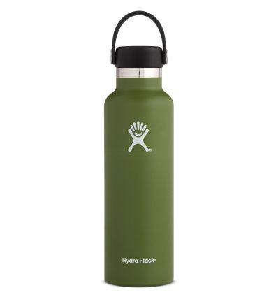 Gourde Hydro Flask 21 OZ Standard flex cap (olive)