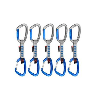 5er Pack Crag Indicator Wire Express Sets Mammut (Straight Gate/Wire Gate, Silver Ultramarine)