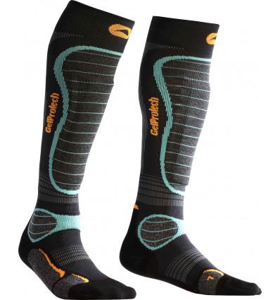 MONNET GelProtech SKI - Paires de chaussettes sans plaque de gel (Bleu)