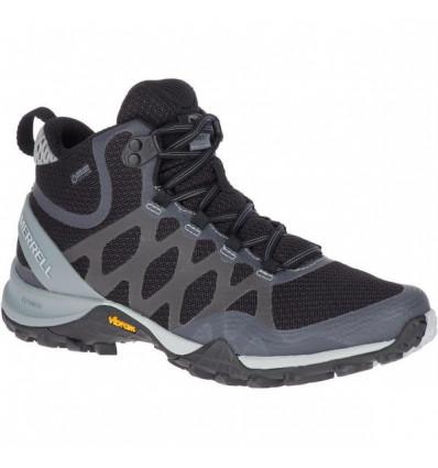 Chaussure de randonnée Siren 3 Mid Gtx Merrell (Black) femme