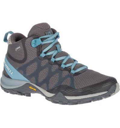 Chaussure de randonnée Siren 3 Mid Gtx Merrell (Blue smoke) femme