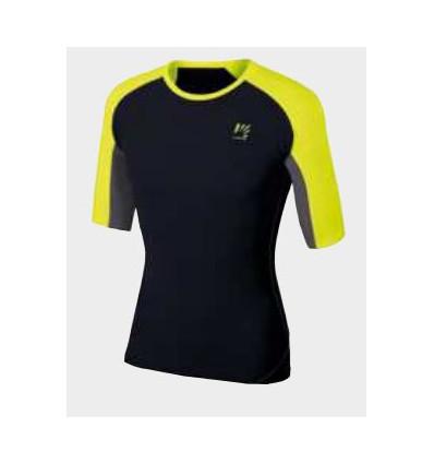 T shirt Karpos Lavaredo Jersey (black yellow fluo dark)