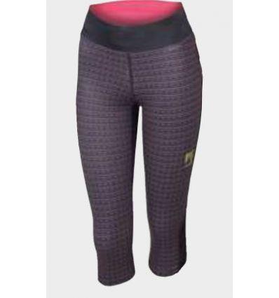 Pantalon 3/4 Karpos Quick Print W 3/4 Pant (Black/pink Fluo) femme
