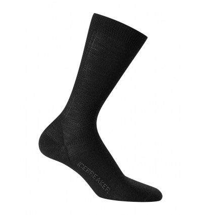 Chaussettes Icebreaker Mens Lifestyle Ultra Light Crew (black)